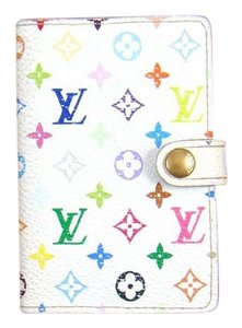 Louis Vuitton White Monogram Mini Canvas Leather Business Card Holder