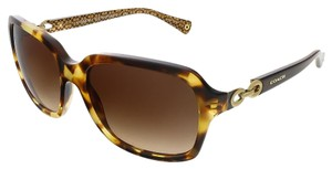 Coach Coach Spotty Tortoise Rectangular Sunglasses