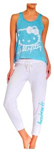 Hello Kitty Top Turquoise & White