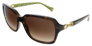 Coach Coach Dark Tortoise Rectangular Sunglasses