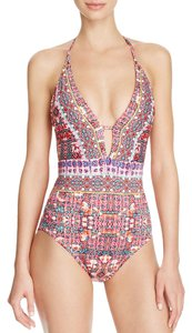 Nanette Lepore Nanette Lepore Sunset Shibori Goddess One Piece Swimsuit Size L (Large)