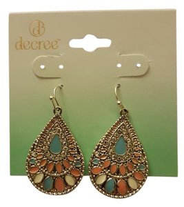 Decree Silver dangling earrings.