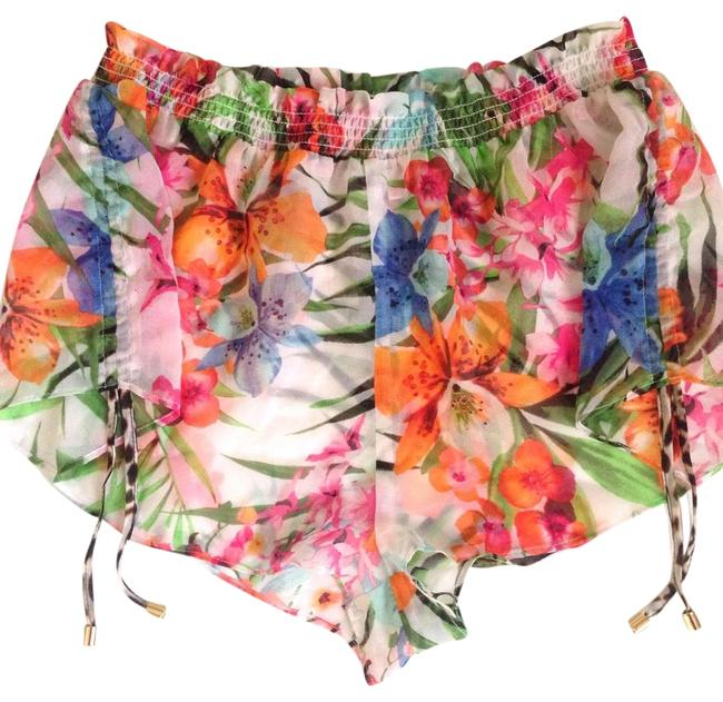 Item - Pink / Green / Orange Tropical Shorts Cover-up/Sarong Size 8 (M)