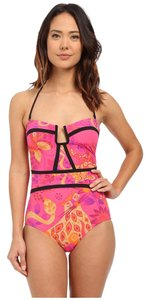 Nanette Lepore Nanette Lepore Jakarta Jaguar Seductress Reversible One Piece Size M (Medium)
