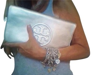Tory Burch Silver Clutch