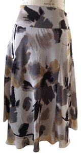 East 5th Essentials Gray Floral Office Floral Chiffon Skirt Fliral Gray