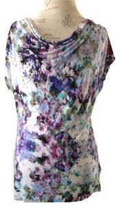 H&M Sleeveless Knit Top Violet Lavender Floral