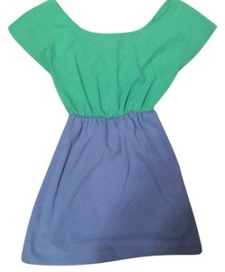 Dani short dress Blue and Green on Tradesy