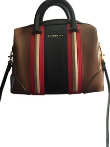 Givenchy Satchel in beige,black and red