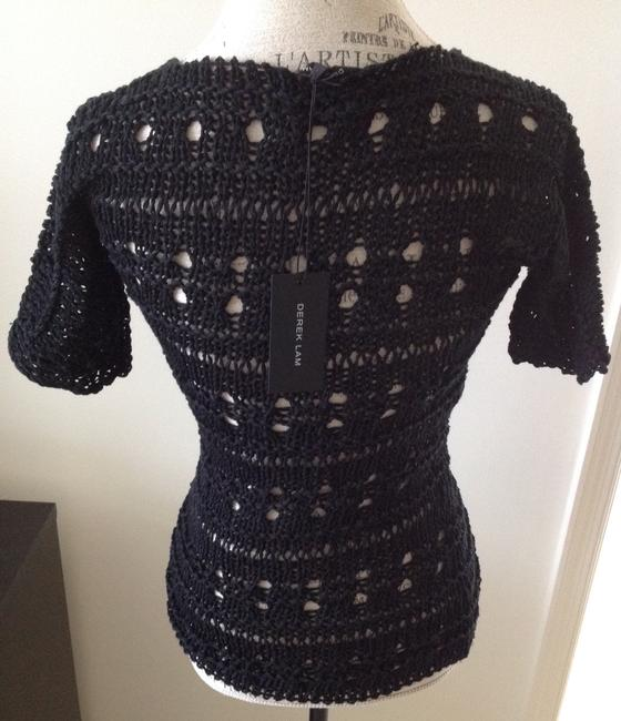 Derek Lam Knit Knitted Going Knit Sweater Top Black