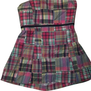 Molly B Plaid Strapless Sleeveless Top Multicolor