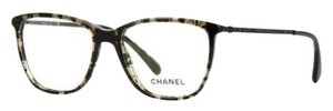 Chanel CHANEL Swarovski Pave Rectangle, Eyeglasses CH3294B (Black Grid)