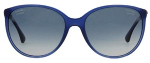 Chanel CHANEL Cat Eye Polarized Swarovski Crystal Baguette Diamante CH5306BA, Sunglasses (Blue)