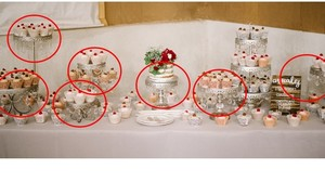 Seven Antique Silver And Crystal Cake And Cupcake Stands