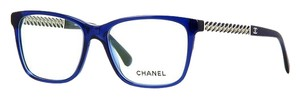 Chanel CHANEL Wayfarer Chain Collection Enamel Temple Eyeglasses CH3302A (Translucent Navy)
