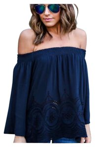 Other Bohemian Off Crochet Lace Loose Tunic