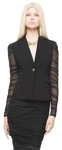 Versace Versace Pleated Tulle Stretch Blazer