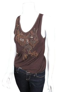 Daytrip The Buckle Embellished Cotton Bubble Shirt Top Brown