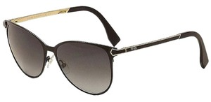 Fendi NEW Fendi FF 0022/S Brown Matte Round Unisex Sunglasses