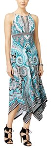 Multi/Teal Dominant Maxi Dress by INC International Concepts Calf Length Maxi Teal Paisley