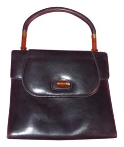 Gucci Early Mod Satchel in black with tortoise shell Lucite and gold accents