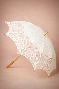 Ivory Or White Lot Of 10 Vintage Style Lace Parasol Other