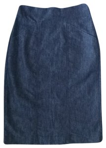 Halogen Skirt Dark denim