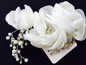 A A Bridal Organza Flower Hair Comb