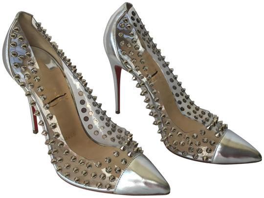Preload https://img-static.tradesy.com/item/17819299/christian-louboutin-silver-pvc-spike-pumps-size-us-85-regular-m-b-0-4-540-540.jpg