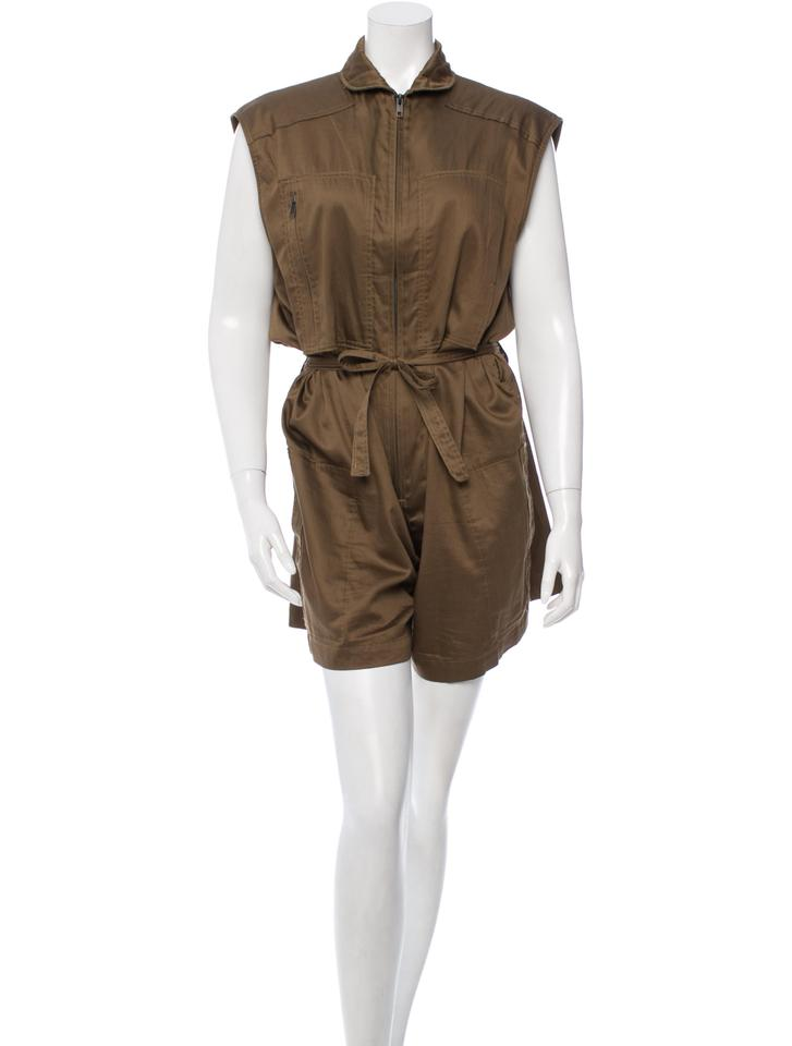 68848d6317ca Isabel Marant Military Drawstring Sleeveless Zip Dress Image 7. 12345678