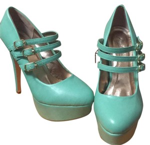 Anne Michelle Teal Platforms