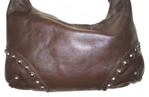 Cristian Leather Studded Hobo Bag