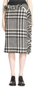 Simone Rocha Italy Tweed Tulle Pencil Skirt Black & White