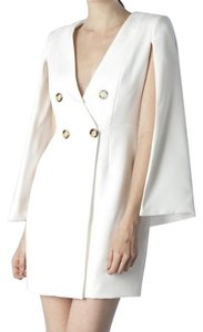 Mustard Seed Tuxedo Blazer Semiformal White Cocktail Dress