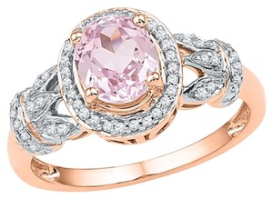 Other Ladies Luxury Designer 10k Rose Gold 1.00 Cttw Diamond & Morganite Gemstone Fashion Ring By BrianGdesigns