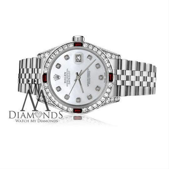 Rolex Ladies Rolex 26mm Datejust White MOP Dial with Ruby & Diamond