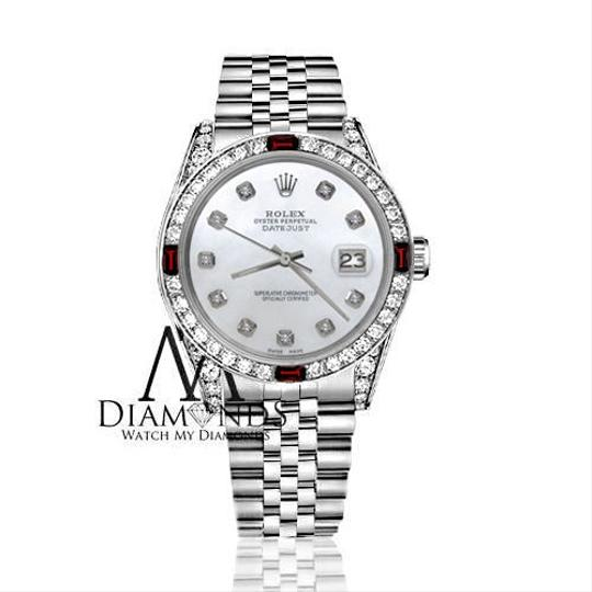 Rolex Rolex 36mm Datejust White MOP Dial with Ruby & Diamond