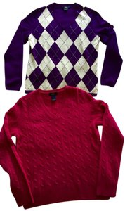 Brooks Brothers Cashmere Pink Argyle Sweater