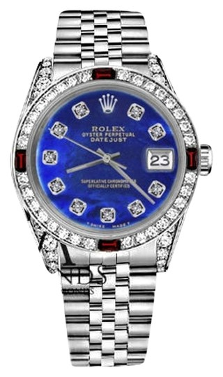 Preload https://img-static.tradesy.com/item/17821510/rolex-women-s-31mm-datejust-blue-color-treated-mop-dial-ruby-and-diamond-watch-0-3-540-540.jpg