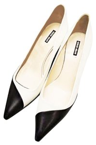 Giorgio Armani Patent Black and white leather Pumps