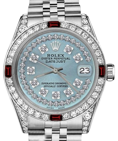Preload https://img-static.tradesy.com/item/17821582/rolex-ladies-26mm-datejust-ice-blue-string-dial-with-ruby-and-diamond-watch-0-1-540-540.jpg