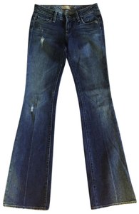 Paige Distressed Night Out Date Night Boot Cut Jeans-Distressed