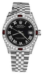 Rolex Rolex 36mm Datejust Roman Numeral Dial with Ruby Diamonds
