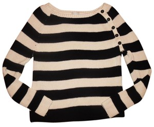 Forever 21 Buttoned Stripes Boatneck Sweater