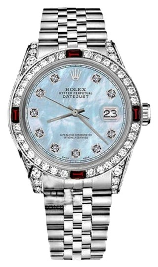 Preload https://img-static.tradesy.com/item/17821795/rolex-women-s-31mm-datejust-baby-blue-mop-dial-with-ruby-and-diamond-watch-0-4-540-540.jpg