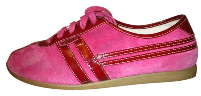 """Item - Pink & Burgundy """"Ellie"""" Suede Patent Leather Sneakers Size US 9.5 Regular (M, B)"""