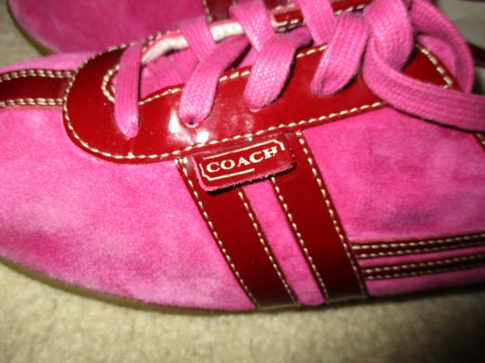 Coach Leather pink & burgundy Athletic