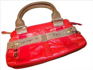 See by Chloé Satchel in red on red