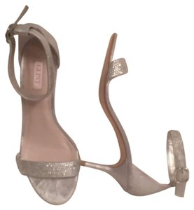 Glint Rhinestones Sandal Bridle Designer Leather Silver Formal