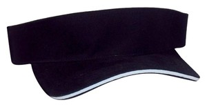 Visor Sandwich Style 100% Woven Cotton, Sturdy Construction for Long Lasting Durability, One Size Fits All Velcro Closure - Black.